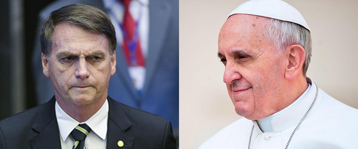 Resultado de imagem para O maior inimigo. Para o governo Bolsonaro, há de ser o papa Francisco