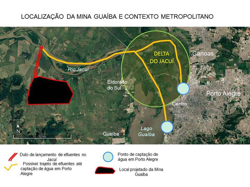 localização da mina Guaíba