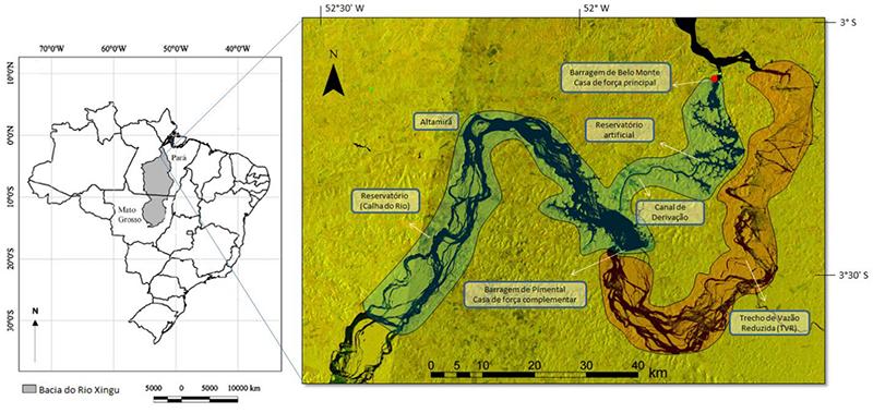 Bacia do Xingu / Imagem de radar – Jan/2016/ (Imagem: Juan Doblas | ISA)