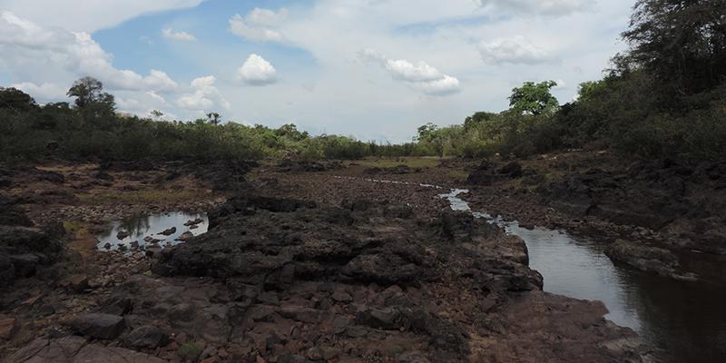 Seca na Volta Grande do Xingu, em 2016 (Foto: Cristiane Costa | Amazônia Real)