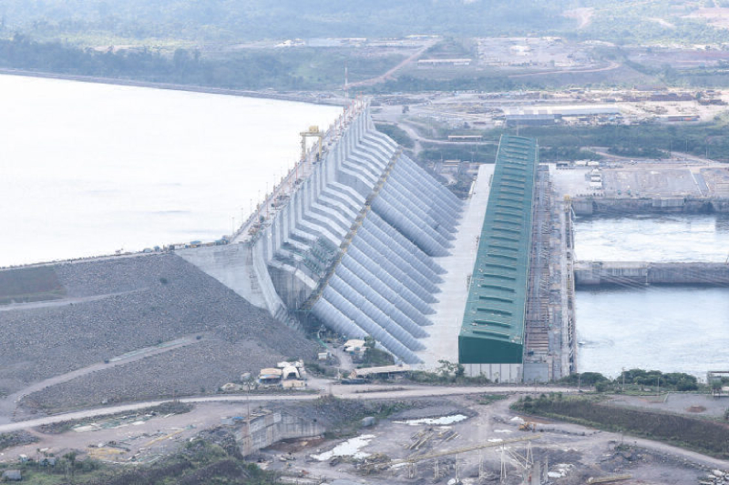 Barragem principal de Belo Monte, em 27 de dezembro de 2019. (Foto: Palácio do Planalto)