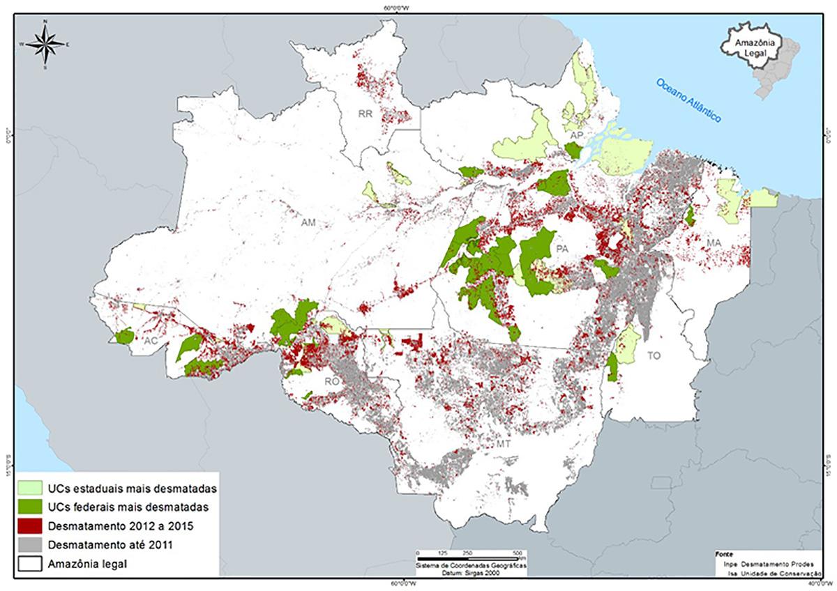 Mapa: Instituto do Homem e Meio Ambiente da Amazônia - IMAZON